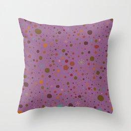 Polka Spots - Lavender  Throw Pillow