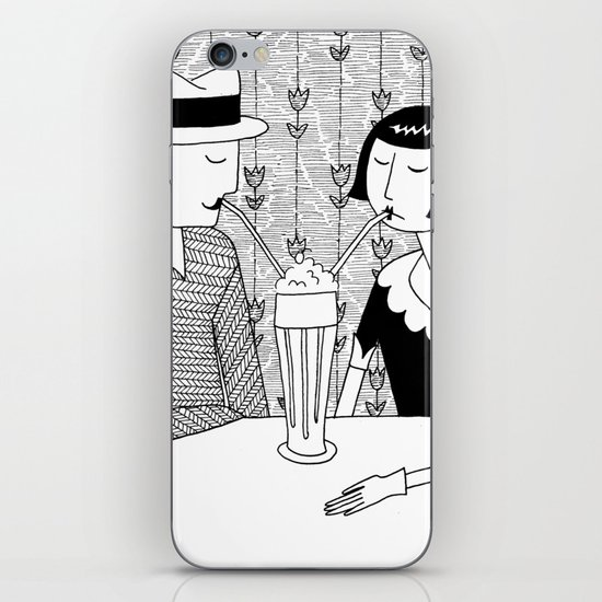 They shared a chocolate shake and some dreams iPhone & iPod Skin
