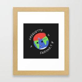 Casquette à l'envers Framed Art Print