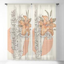 Love songs Sheer Curtain