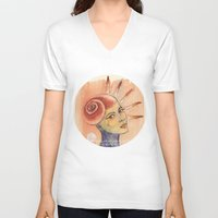 seashell V-neck T-shirts featuring Seashell by Art of Sayler