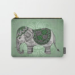 Green Elephant Carry-All Pouch
