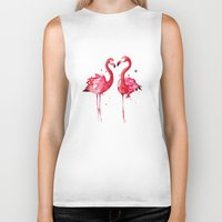 flamingo Biker Tanks featuring Flamingo by Sam Nagel