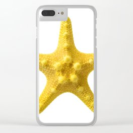 Yellow starfish Clear iPhone Case