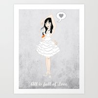 bjork Art Prints featuring Bjork by AnaMF