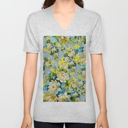 Flowes designs Unisex V-Neck