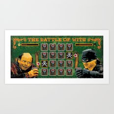 The Battle of Wits Art Print