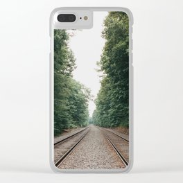 New England Railroad Tracks - 35mm Film Clear iPhone Case