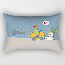 En route vers Tunis | Road to Tunis Rectangular Pillow
