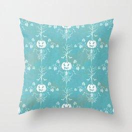 Vintage Halloween in Turquoise Throw Pillow