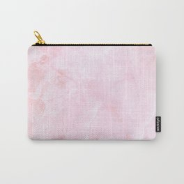 Sugar Pink Marble Carry-All Pouch