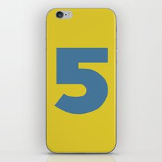 Number 5 iPhone & iPod Skin