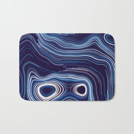 Abstract Colorful Line Wave Art Pattern Bath Mat