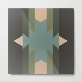 Green Star  - does it belong in the Forest or in the Space?? Metal Print