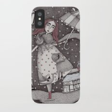 Alice's First Snow iPhone X Slim Case