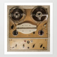 Vintage tape sound recorder reel to reel Art Print