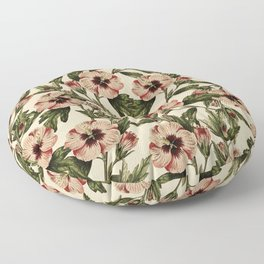 Pink Pansies : Vintage Pattern Series Floor Pillow