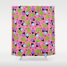 2D Geo Goodness Shower Curtain