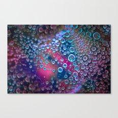 Magic iridescent colorful dew drops Canvas Print