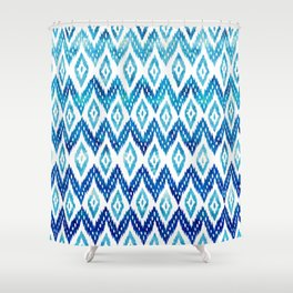 Watercolor Blues Shower Curtain