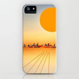 Horizon Sunset Orange Blue iPhone Case