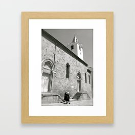 Italy in Black and White Framed Art Print