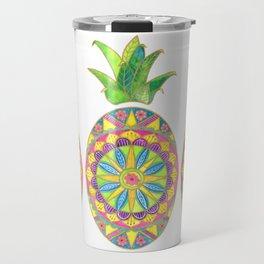 Pineapple Mandala Travel Mug