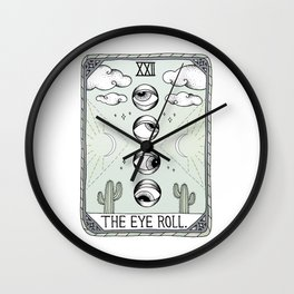 The Eye Roll Wall Clock