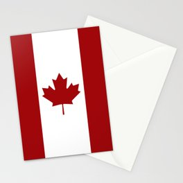 Canada: Canadian Flag (Red & White) Stationery Cards