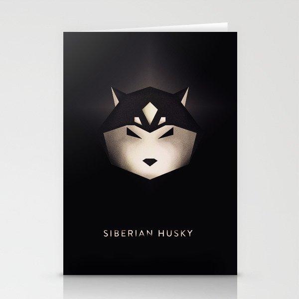Siberian Husky 3 Stationery Cards