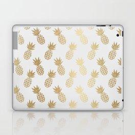 Gold Pineapple Pattern Laptop & iPad Skin