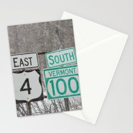 Vermont Street Signs Stationery Cards
