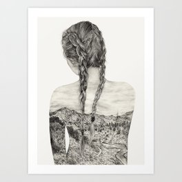 All That Is Left Is The Trace Of A Memory Art Print