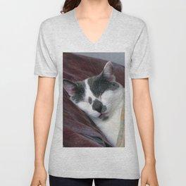 Cat Napping Unisex V-Neck