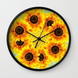Spinning Sunflowers Wall Clock
