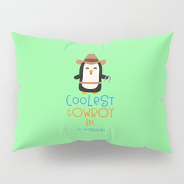 Coolest Cowboy Penguin in St. Petersburg T-Shirt Pillow Sham