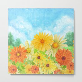 Field of Daisies Metal Print