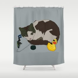 Lenny and Duckie! Shower Curtain