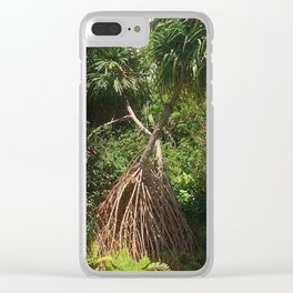 Screw Pine Trees Clear iPhone Case