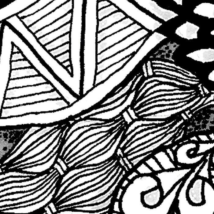 Zentangle Black and White Summer Sunflower Leggings
