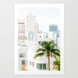 South Beach Miami Pastel Skies Art Print