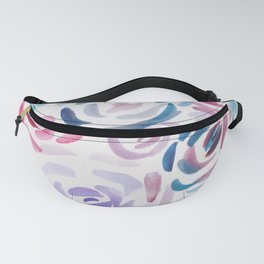 2  |  190411 Flower Abstract Watercolour Painting Fanny Pack