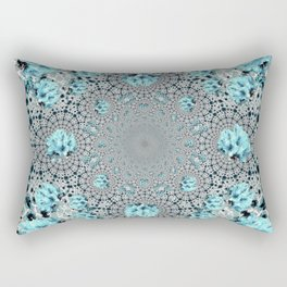 Abstracted Optical Aqua Green Art Pattern Rectangular Pillow