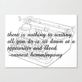 Earnest's typwriter Canvas Print