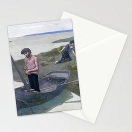 12,000pixel-500dpi - Pierre Puvis de Chavannes - The Poor Fisherman - Digital Remastered Edition Stationery Cards