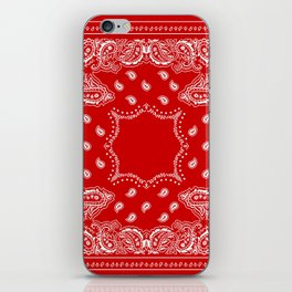 Bandana in Red & White iPhone Skin