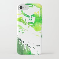 neil young iPhone & iPod Cases featuring Young by Malin Björklund