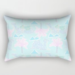 Camel Cabana in Psychedelic Blue Rectangular Pillow