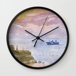 Sunset on the Black Sea Wall Clock