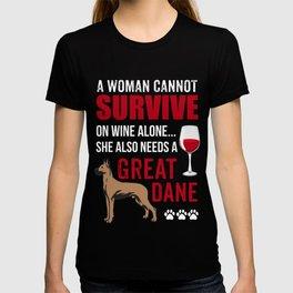 Costume For Great Dane Dog Lover. Shirt For Mom/Grandma. T-shirt